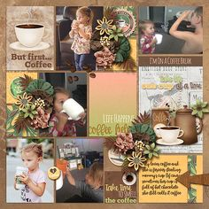 On a Coffee Break Bundle by JoCee Designs: http://store.gingerscraps.net/On-A-Coffee-Break-Bundle.html  Precious Album 1 - Clustered by Tinci Designs: http://store.gingerscraps.net/Precious-album-1.-Clustered.html