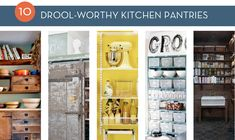 Roundup: 10 Drool Worthy Kitchen Pantries (love The Yellow One Cb)