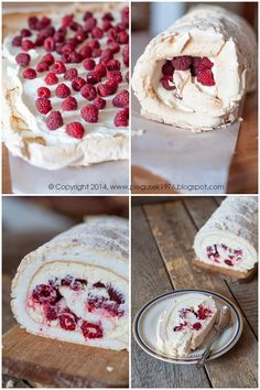 I love the color red. Year-round, for Sweet Recipes, Cake Recipes, Dessert Recipes, Pavlova, Polish Recipes, Sweet Cakes, Cookie Desserts, Food Cakes, No Bake Cake