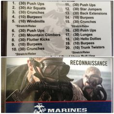Marine workout :-) Gonna need to start doing this! Marine workout :-) Gonna need to start doing this! Marine Workout, Army Workout, Boot Camp Workout, Squat Workout, Gym Workouts, At Home Workouts, Military Workout Plan, Navy Seal Workout, Workout Circuit