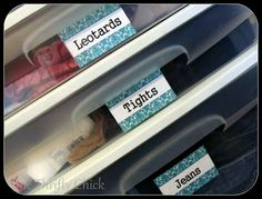 free printable labels for closet organization