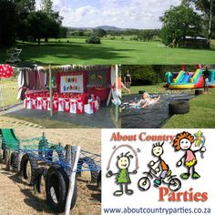 About Country Parties is all about having your party outdoors, on the farm, in a beautiful natural environment in the country. We are open 7 days a week. Bookings are essential! The venue is AWESOME whether it be for a kids birthday party or any type of corporate function i.e. Team Building; Company Workshops; Sports Conditioning etc.