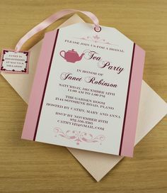 Party: Diy Tea Party Invitations To Make Your Decorative Party Invitations Unique And Creative 2