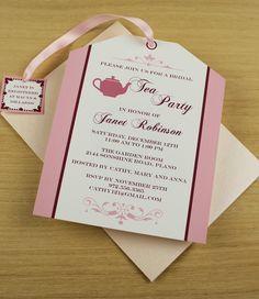 Bridal Shower Vintage Tea Party Invitation Printable por ...