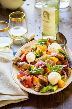 ... flavors of summer any time of year with this easy panzanella salad