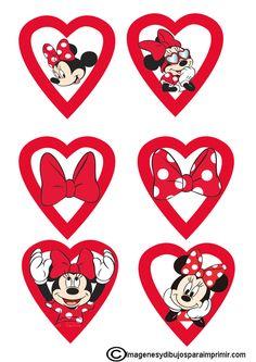 Minnie mouse para decorar cupcakes-Imagenes y dibujos para imprimir Mickey Mouse Birthday, Minnie Mouse Party, Mickey Ears, Mouse Parties, Imprimibles Mickey Mouse, Minnie Mouse Cupcake Toppers, Disney Mouse, Walt Disney, Mini Mouse