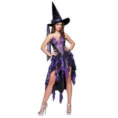 Mulheres de luxo beleza feiticeira Costume Sexy Fantasia feminina Halloween Cosplay Disfraces gótico máscara em Roupas - Bebê de Novidade e de uso especial no AliExpress.com | Alibaba Group