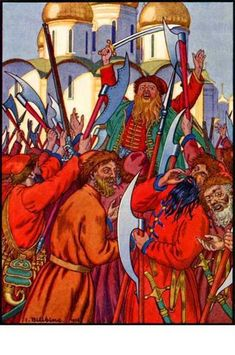 The Streltsy Uprising, 1936 - Iván Bilibin