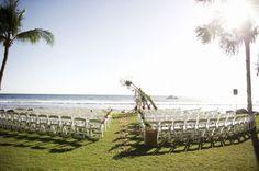 Colorful Tropical Olowalu Beach Wedding by Ashley Camper Photography » Love Notes Wedding Blog