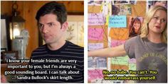 Because he always tries his hardest to be supportive of Leslie.