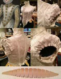 In progress sleeve pouf by Truly Carmichael via Elizabethan Costume group on Facebook