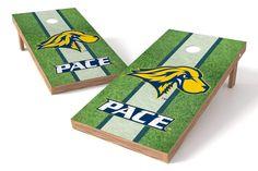 Pace University Setters 2x4 Cornhole Board Set - Field (w/Bluetooth Speakers)