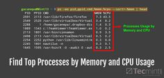 Find Top Running Processes by Highest Memory and CPU Usage in Linux
