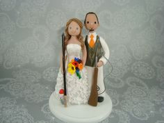 Personalized+Hunting/+Fishing+Theme+Wedding+Cake+by+mudcards,+$125.00