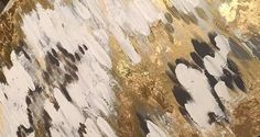 This one of a kind, original abstract artwork created with a mixture of acrylic paints, gold/silver leaf and different textures. These large scale paintings offer a unique statement for any large wall. Silver and gold leaf accents change based on lighting and create 3D effect. This style painting includes shades of gray, white, and touches of silver and gold leaf  This is a signed original gallery wrapped - heavy duty canvas that is 1.5 deep  ****** This item is sold, but a very similar…