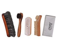 Extra Off Coupon So Cheap Shoe Shine Brush Kit 4 in 1 with Soft Horsehair Bristle Brush Crepe Sued. Boar Bristle Brush, Shoe Polish, Horsehair, Brush Kit, Cs Go, Cheap Shoes, Suede Shoes, Watch Accessories, Leather