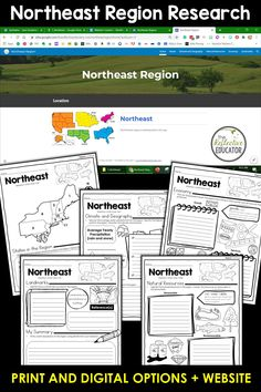 Northeast Region - one of the 5 regions of the United States - is a research project for students in grades 2-4. With this one easy lesson, your students can learn to complete a short research project. Included in this fun resource is a link to the Reference Website created exclusively for this project. The website is kid-friendly and ad-free. When you purchase Northeast Region, you get BOTH print and digital options making it easily compatible with Google Classroom™ and distance learning. Daily Lesson Plan, Lesson Plans, Reference Website, Create Website, Research Projects, Upper Elementary, Google Classroom, Social Studies, Distance
