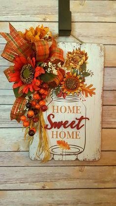 37 Rustic Diy Fall Centerpiece Ideas For Your Home Décor Fall Home Decor, Autumn Home, Fall Crafts, Decor Crafts, Design Crafts, Holiday Crafts, Diy Crafts, Porch Decorating, Decorating Ideas