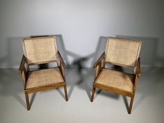 Lounge Chairs by Pierre Jeanneret, 1950s, Set of 2 for sale at Pamono
