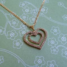 Double Hearts Necklace, great gift for Valentine's Day
