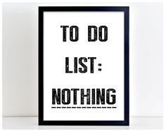 To Do List Print Gift Print Poster Quote Print by PurplePrintHouse