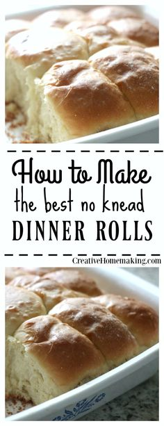 New to baking with yeast? Try these easy no knead dinner rolls and get started making homemade bread!