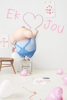 Cute Bunny Cartoon, Cute Cartoon Images, Cute Cartoon Wallpapers, Pig Wallpaper, Disney Wallpaper, Wallpaper Backgrounds, This Little Piggy, Little Pigs, Hug Quotes