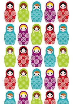Russian dolls wrapping paper by Scott Rhodes - cards, via Flickr