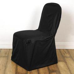Black Stretch Scuba Chair Cover Chair Bows, Chair Sashes, Chair Fabric, Stretch Chair Covers, Spandex Chair Covers, Black Chair Covers, Wedding Reception Chairs, Black Tablecloth, Banquet Chair Covers