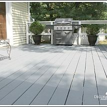 Behr Deck over deck stain in cape cod grey. Deck Over, Deck Makeover, Exterior Paint Colors For House, House Deck, Remodels And Restorations, Outdoor Projects, Outdoor Ideas, Outdoor Living, Outdoor Patios