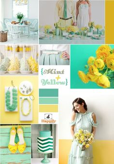 Mint + Yellow Happily Factory