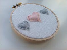 Personalised embroidery hoop art. New baby gift. by BoxRoomBazaar