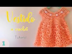 Crochet Fast And Easy Baby Dress - Kaan Kaan Crochet Baby Dress Pattern, Baby Girl Crochet, Baby Knitting Patterns, Crochet For Kids, Crochet Patterns, Gilet Crochet, Crochet Videos, Crochet Designs, Toddler Dress