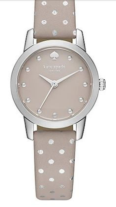 Grey polka dot Kate Spade watch