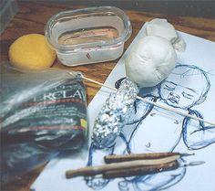 JAJAJAJAJAJAJAJAJA!!!!!!!!!!!!!!!!!!!!Making dolls with Creative Paperclay
