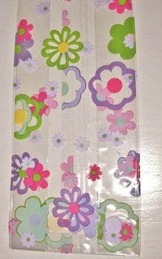 25 Printed FLOWER GROOVE CELLO Bags 3-1/2 x by GardeningGalAtWork