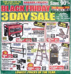 Harbor Freight Black Friday 2018 Ad Scan, Deals and Sales Harbor Freight Black Friday The Harbor Freight Black Friday ad is here! Harbor Freight will be closed on Thanksgiving but will. Black Friday Store Hours, Black Friday 2019, Best Black Friday, Happy Fathers Day Daddy, Harbor Freight Tools, Gas Generator, Friday Saturday Sunday, Online Shopping Deals, Extended Hours