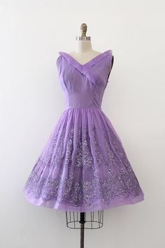 vintage 1960s dress // 60s purple prom dress by TrunkofDresses