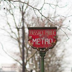 Metro sign: Madeleine station