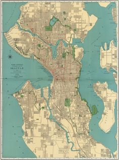 Rand mcnally 1924 seattle map - want this!