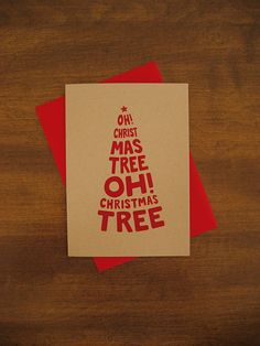 'Oh Christmas Tree' Holiday Card by Yellow Chair Design