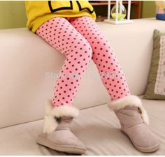Online Shop Free Shipping 2014 Winter Girls Leggings Clothing Warm Pants Cute Dot Pattern Children Kids Baby Clothing Winter Clothes|Aliexpress Mobile
