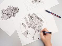 DIY-Anleitung: Malen zur Entspannung / DIY tutorial: what you need in order to start drawing via DaWanda.com