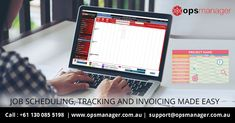 opsmanager - makes job scheduling, tracking and invoicing made easy. Tracking Software, Operations Management, Schedule, Make It Simple, Easy, Timeline