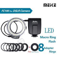 Meike FC100 LED Macro Ring Flash Light for Canon 450D 500D 550D 600D 650D 700D 1100D 6D