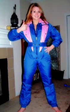 Ski bunny is ready! (onesieworld) Tags: snow ski fashion one outfit shiny style retro chick suit blonde piece mistress nylon kinky catsuit vixen onesie Ski Jumpsuit, All Fashion, Womens Fashion, Winter Suit, Snow Suit, Editorial Fashion, Skiing, What To Wear, One Piece
