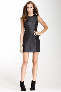 vegan leather dress - hautelook