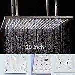 Stainless Steel 304 110V~220V Alternating Current Bathroom Rainfall Shower Head With Energy Saving LED Lamps 2017 - $274.55