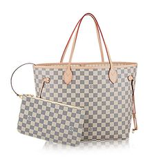 Cream and Grey Louis Vuitton Handbag