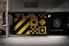 Exterior maritime inspired patterns designed by Inhouse for restaurant and bar Ostro